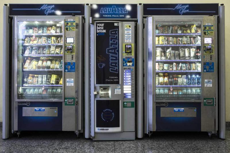 Airport automatic vending machines