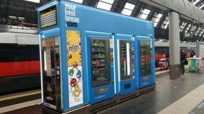 distributori stazione milano centrale - area break ivs italia - your best break - ivs caffè - ivs group - ivs distributore snack - ivs macchinette automatiche - distributori automatici caffé - bevande