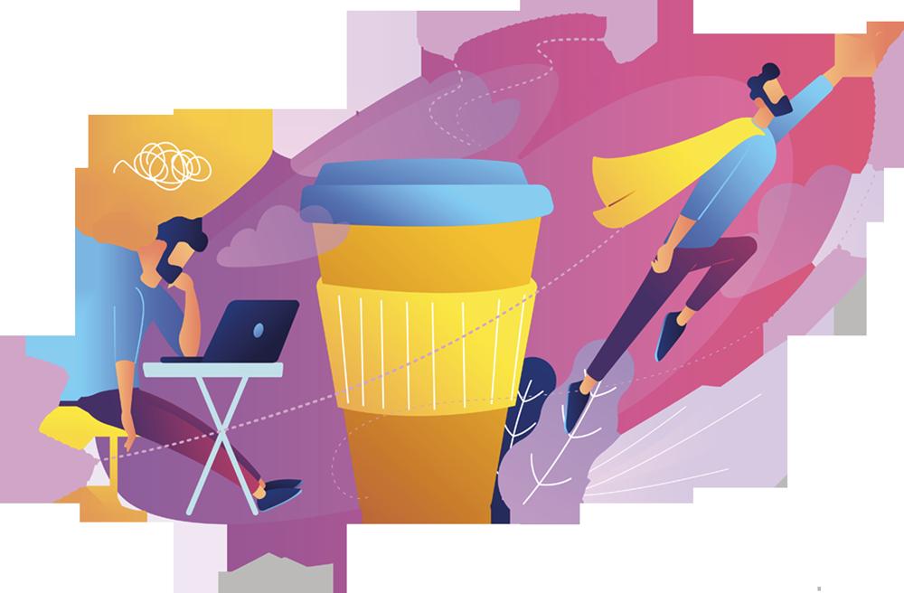 area break ivs - illustrazione start - ivs italia - your best break - ivs caffè - ivs group - ivs distributore snack - ivs macchinette automatiche - distributori automatici caffé - bevande